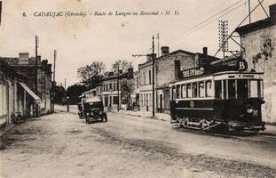 Photo du tramway au Bouscaut